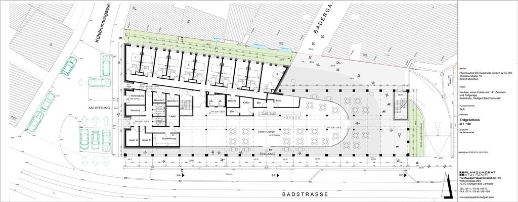 Stuttgart hotel projekte bauthread skyscrapercity for Motel one zimmer grundriss
