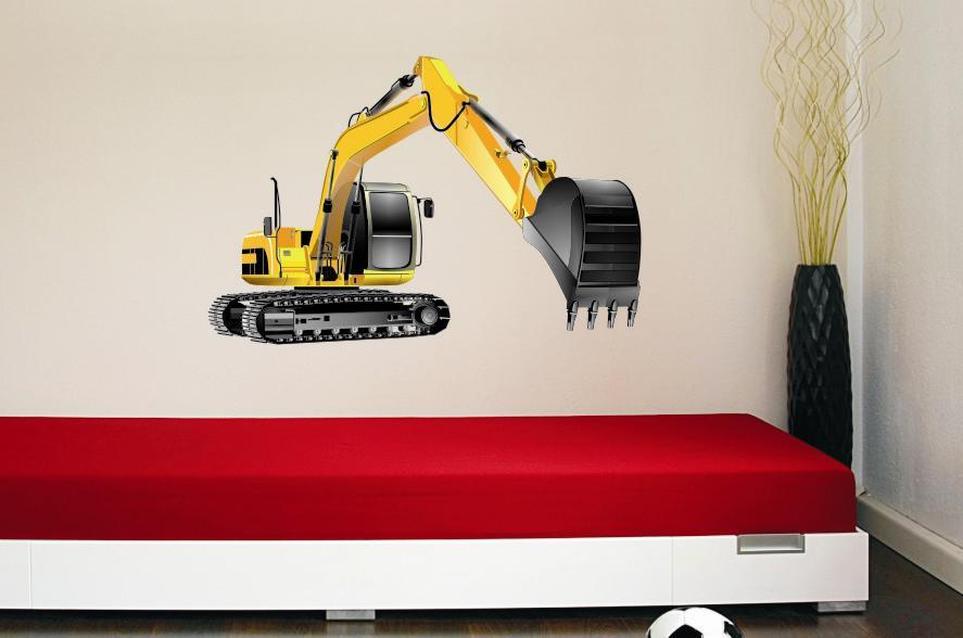 Wandtattoo bagger ebay for Bildmotive wohnzimmer