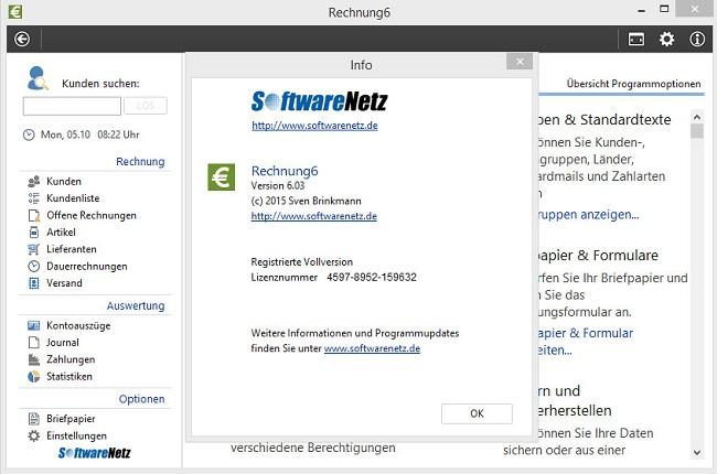 Softwarenetz Rechnung 6 Serial : office softwarenetz rechnung 6 incl serial ~ Themetempest.com Abrechnung
