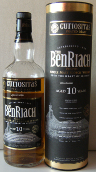 BenRiach 10 'Curiositas peated' Flasche