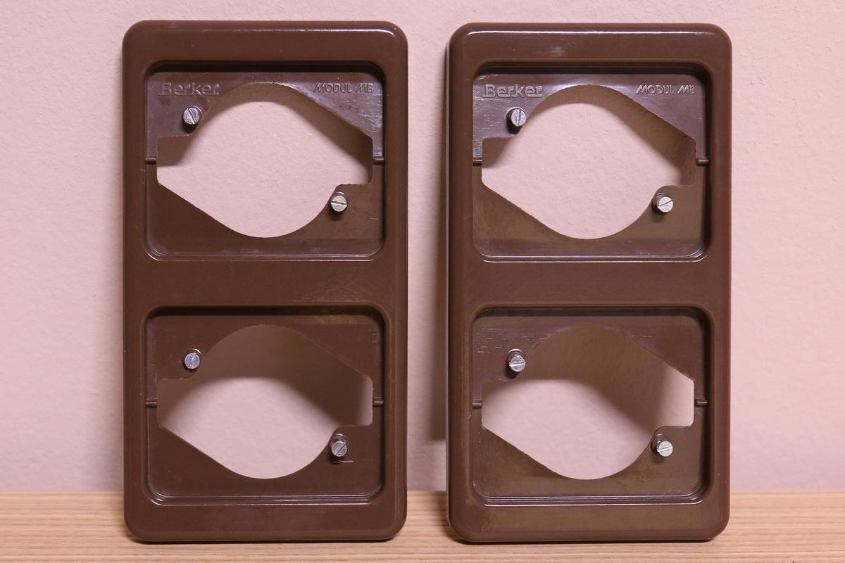 berker modul mb rahmen 2 fach senkrecht braun ebay. Black Bedroom Furniture Sets. Home Design Ideas