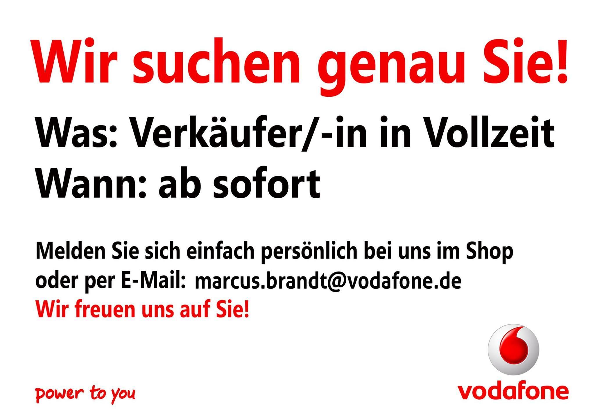 suchen handyverkufer fr berlin und brandenburg - Vodafone Bewerbung