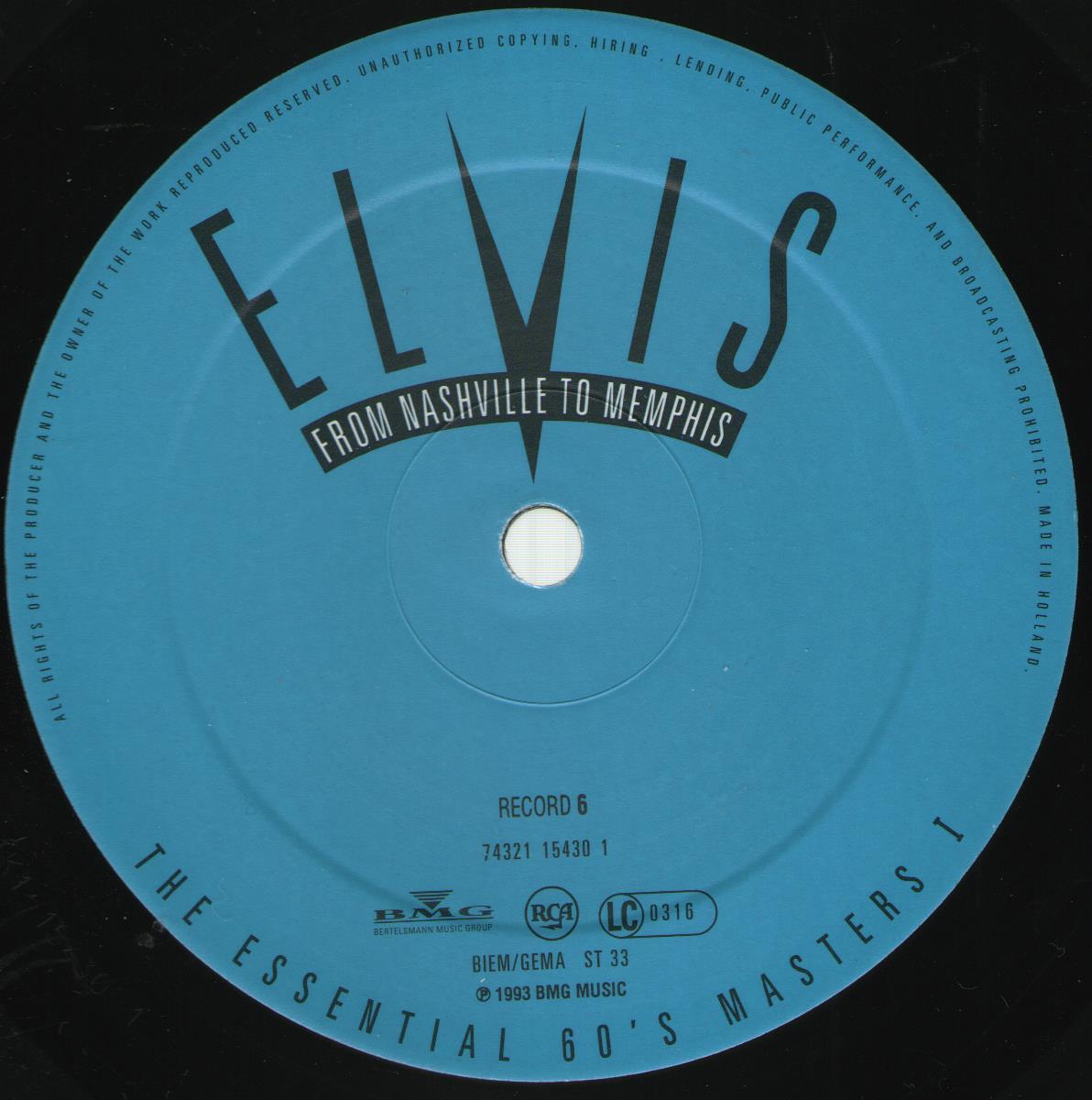 ELVIS - FROM NASHVILLE TO MEMPHIS - THE ESSENTIAL 60'S MASTERS Bild11e1ptk