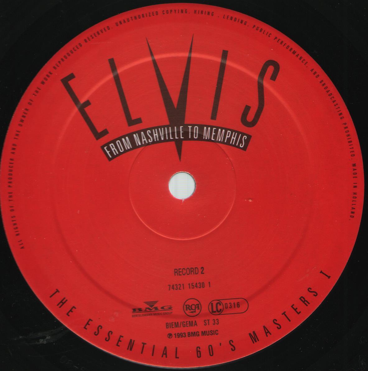 ELVIS - FROM NASHVILLE TO MEMPHIS - THE ESSENTIAL 60'S MASTERS Bild3d8j0b