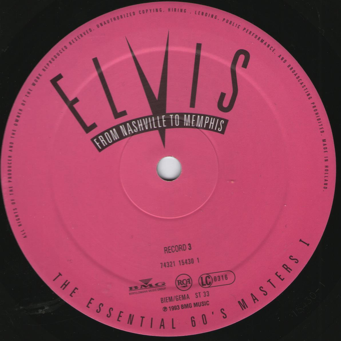 ELVIS - FROM NASHVILLE TO MEMPHIS - THE ESSENTIAL 60'S MASTERS Bild59csy4