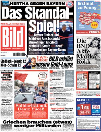Bild  Zeitung 20 Februar 2017