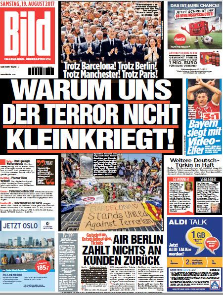 Bild  Zeitung 19 August 2017