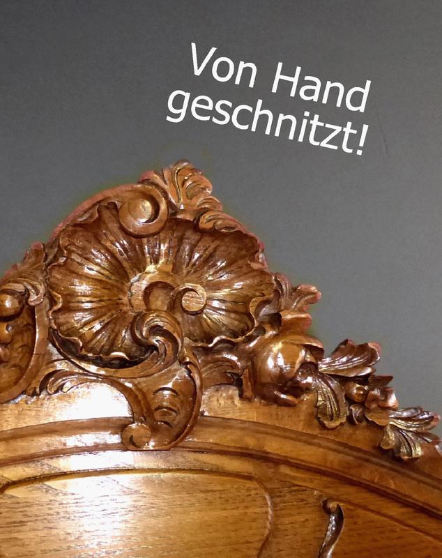 xl barock kleiderschrank dielenschrank antik garderobe eiche spiegel schrank ebay. Black Bedroom Furniture Sets. Home Design Ideas