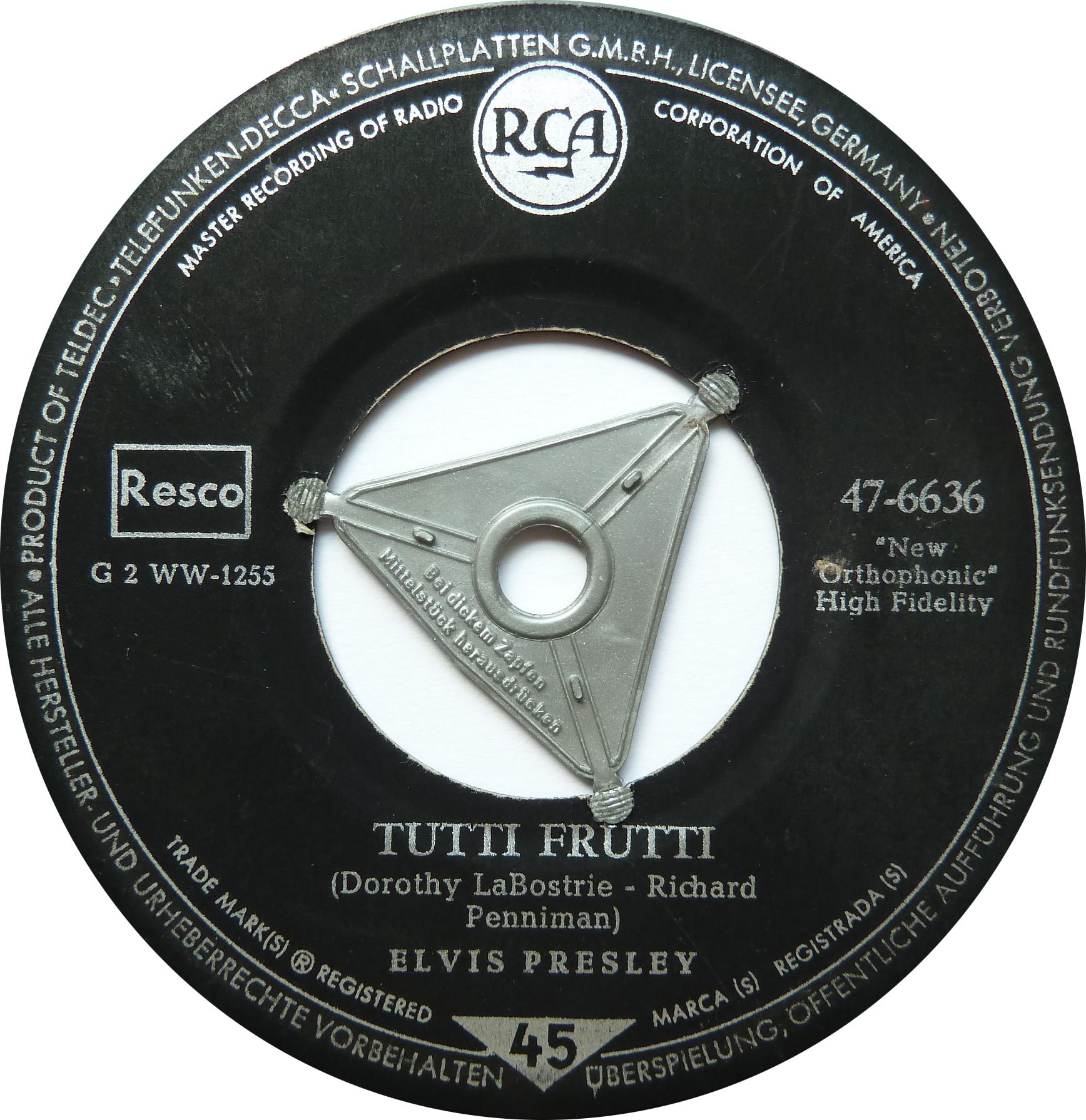 Blue Suede Shoes / Tutti Frutti Bluesuedeshoess5side2odxo2