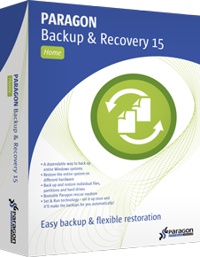 : Paragon Backup and Recovery 15 Home v10.1.25.348