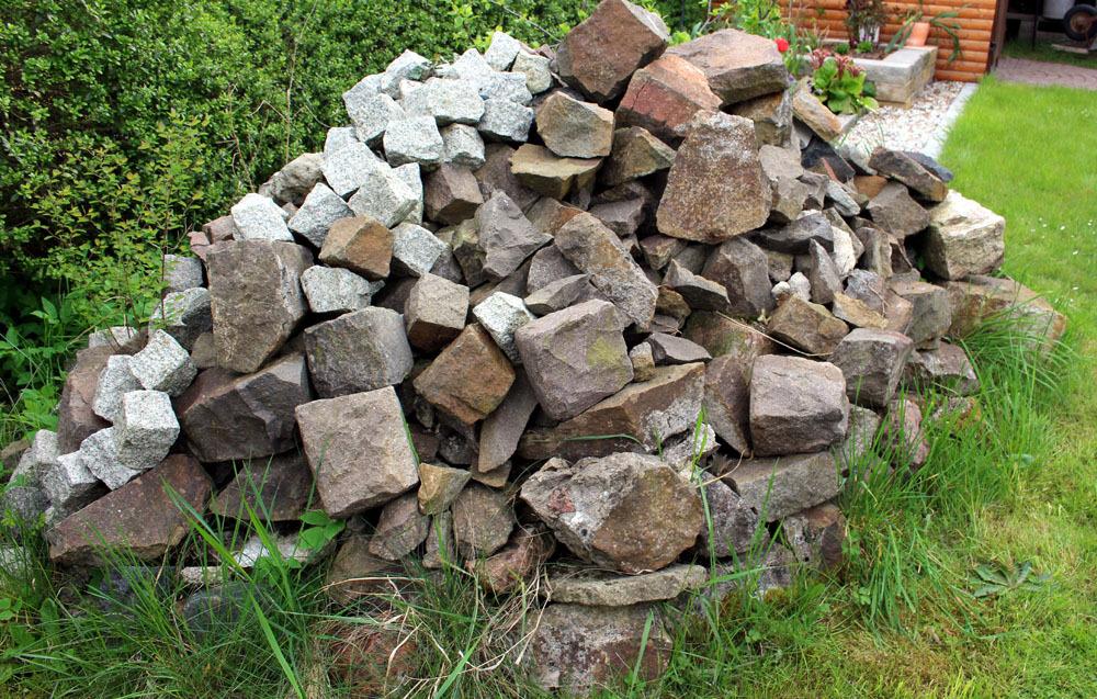 Bruchsteine natursteine mauersteine garten teich steine ebay for Bruchsteine teich