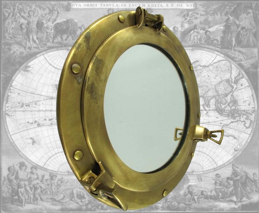 bullauge als spiegel durchmesser ca 30cm mm b ebay. Black Bedroom Furniture Sets. Home Design Ideas