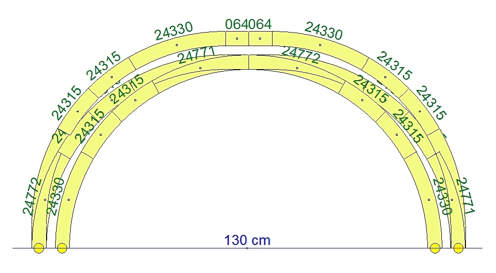 Märklin 24771 Bogenweiche links Spur H0