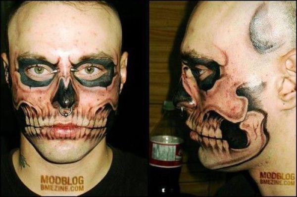 Tatuaże na twarzy 2