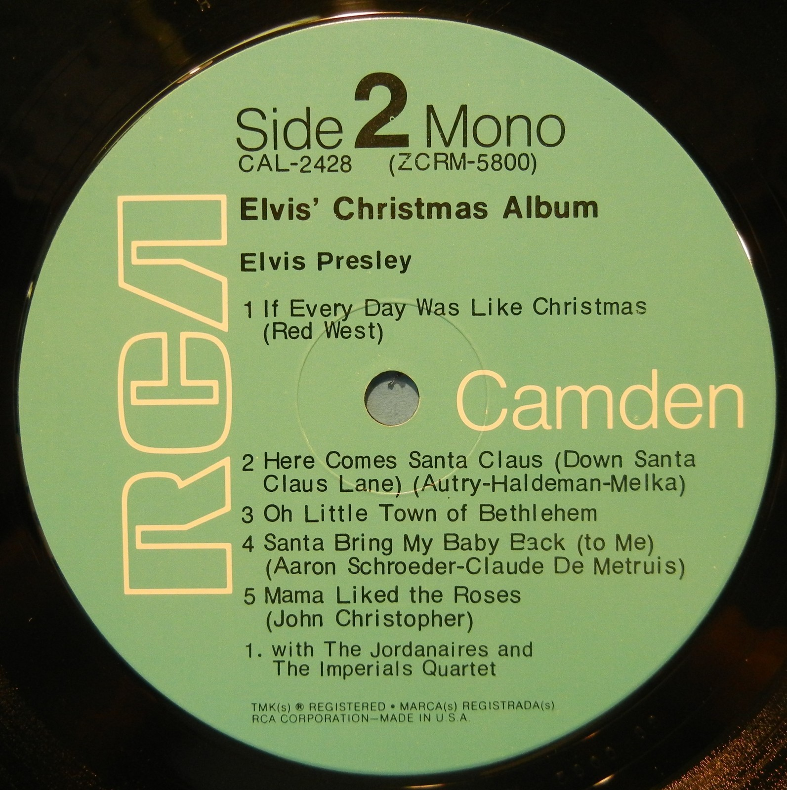 ELVIS' CHRISTMAS ALBUM Cal-2428d2zkos