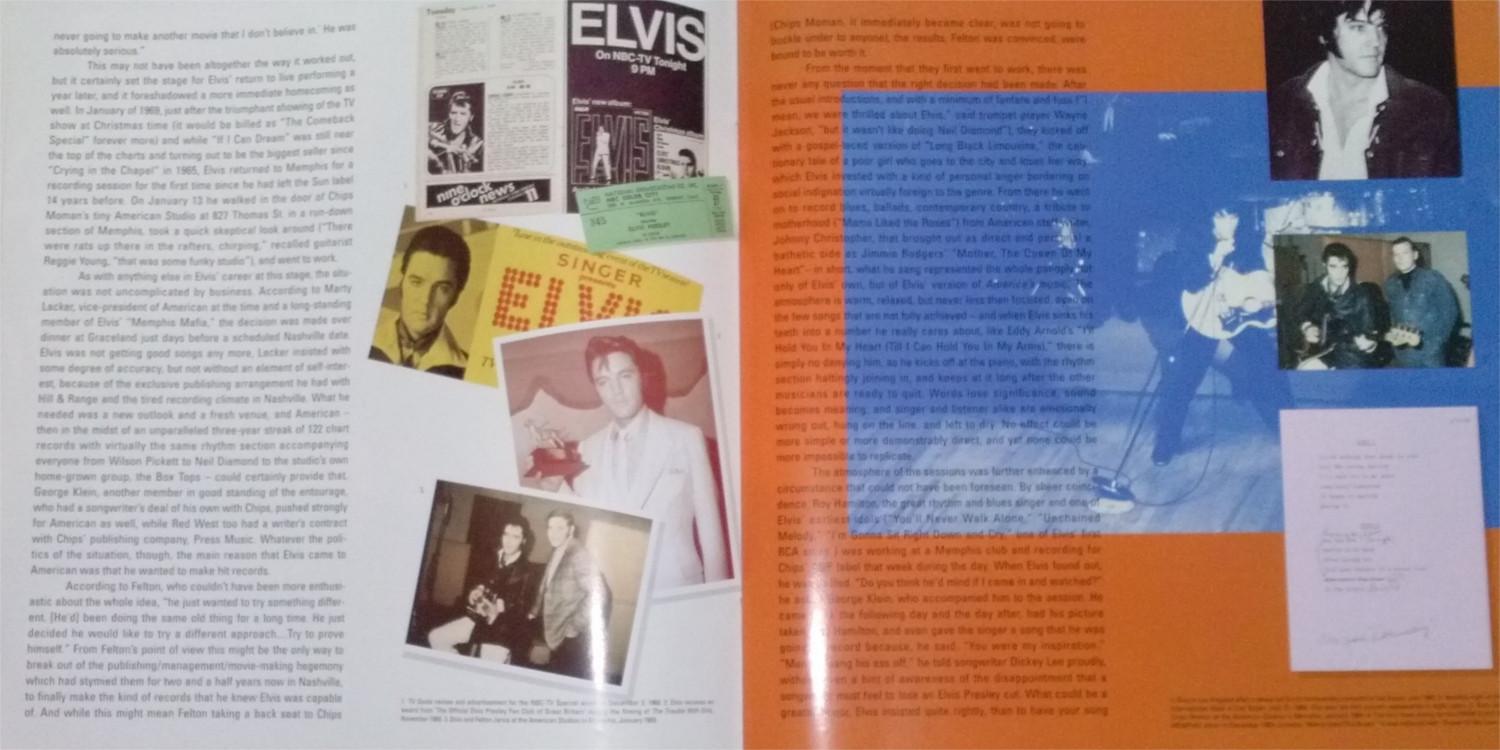 ELVIS - FROM NASHVILLE TO MEMPHIS - THE ESSENTIAL 60'S MASTERS Cam00124knz30