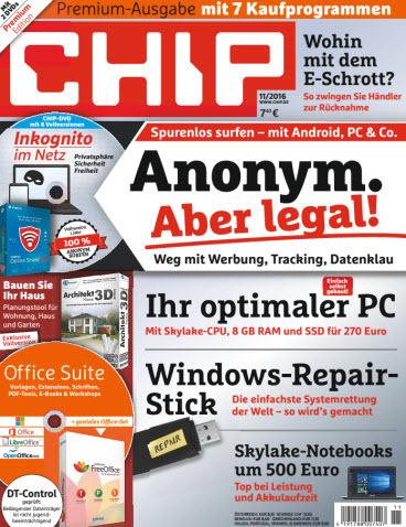: Chip Magazin September No 11 2016