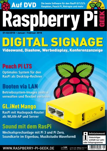 :  Raspberry Pi Geek Magazin Januar-Februar No 01/02 2018