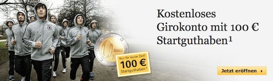 Commerzbank - 100,00 Euro bei Girokontoeröffnung