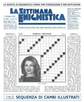La Settimana Enigmistica N.4519 - 1 Novembre 2018