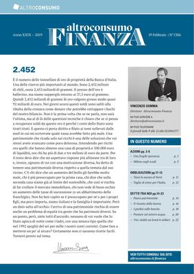Altroconsumo Finanza N.1306 - 19 Febbraio 2019