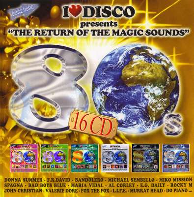 I Love Disco 80's [16 CD] (2015).Mp3 - 320Kbps