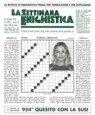 La Settimana Enigmistica N.4517 - 18 Ottobre 2018