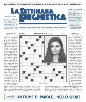 La Settimana Enigmistica N.4513 - 20 Settembre 2018
