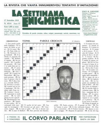 La Settimana Enigmistica N.4514 - 27 Settembre 2018