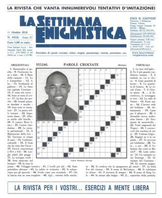 La Settimana Enigmistica N.4516 - 11 Ottobre 2018