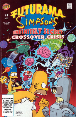 Futurama Simpsons Infinitely Secret Crossover Crisis N 1(2002)