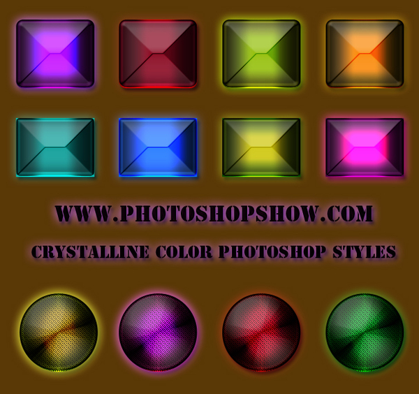 Crystalline Color photoshop styles, Crystalline colorful style download