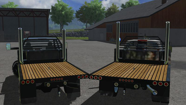 Custom Diesel Truck Flatbed With Stacks v1.0