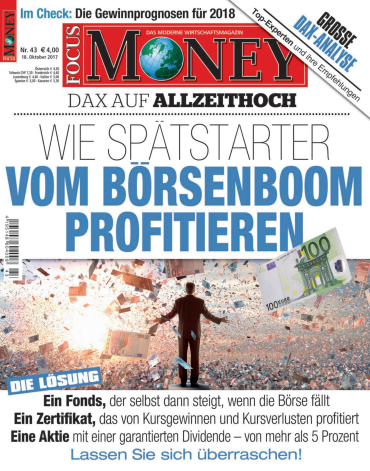 Focus Money Finanzmagazin No 43 vom 18 Oktober 2017
