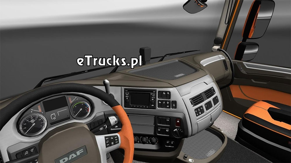 daf xf 106 interior exterior rework. Black Bedroom Furniture Sets. Home Design Ideas