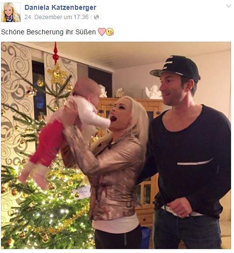 Daniela Katzenberger: So war das erste Weihnachten von Baby Sophia ...