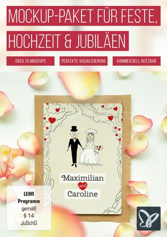 : Psd Tutorials - Das große Mockup-Paket für Hochzeit, Jubiläen und Feste