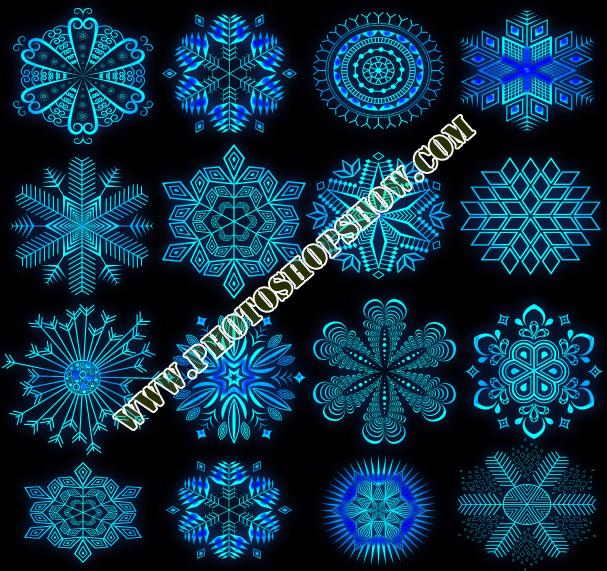 photoshop dekoratif Kar Tanesi Şekilleri