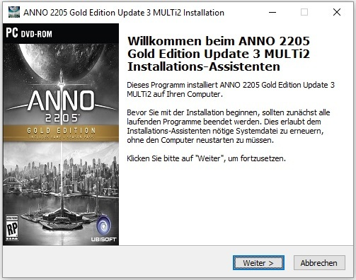 ANNO 2205 Gold Edition Update 3