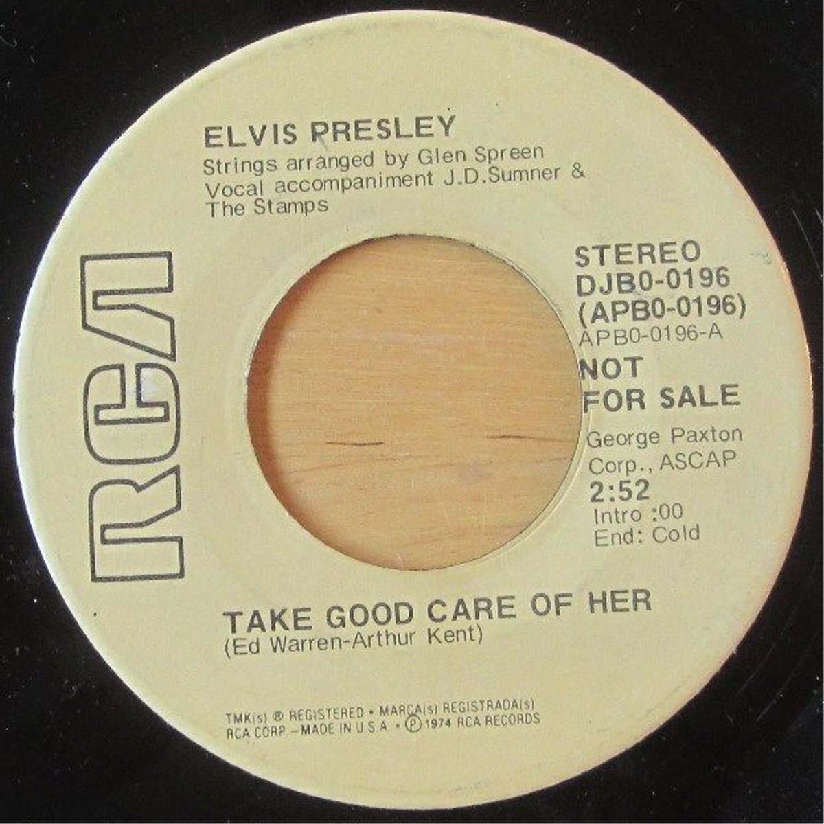 I've Got A Thing About You Baby / Take Good Care Of Her Djb0-0196d5dlbz