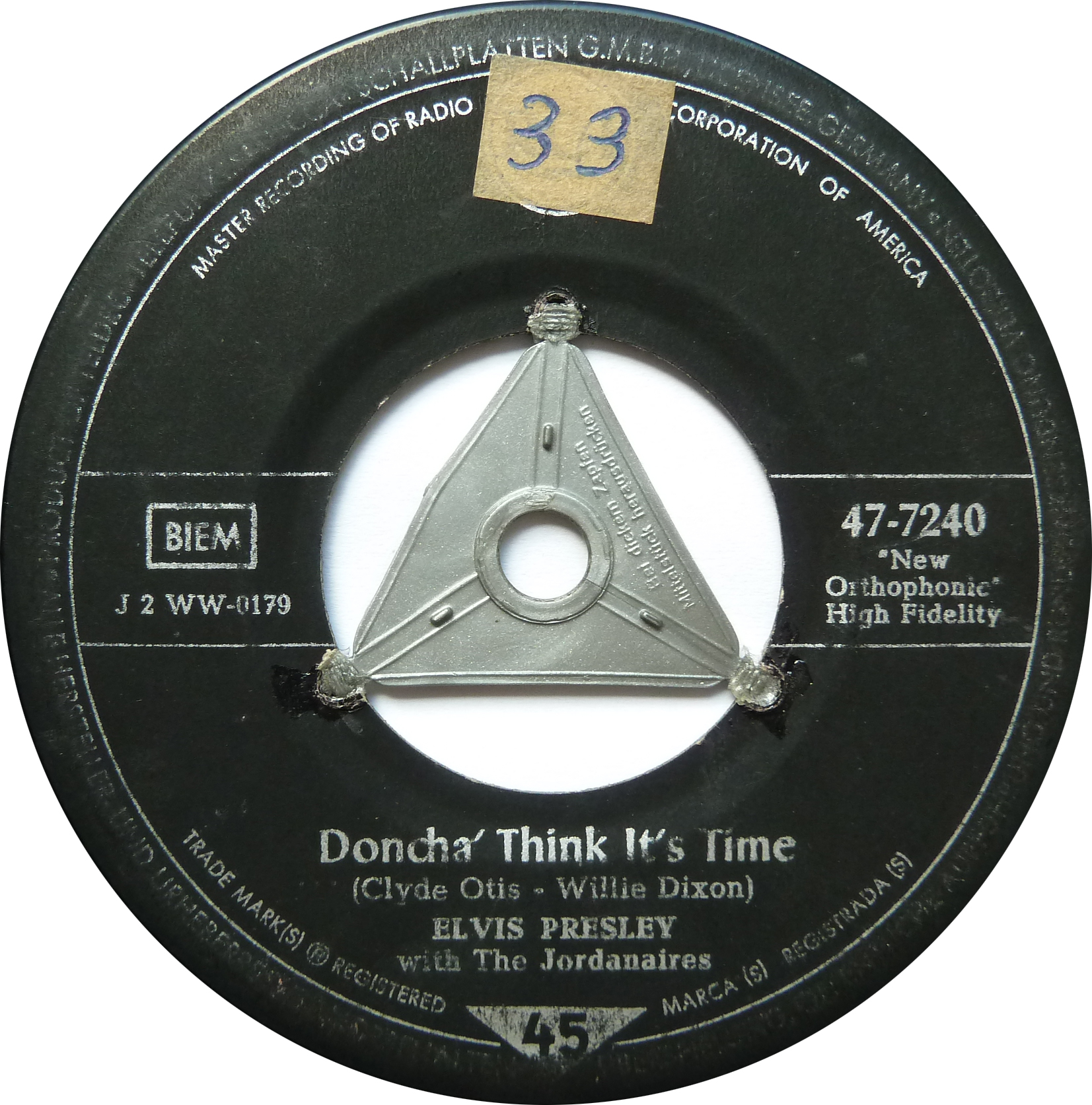 Doncha´ Think It's Time / Wear My Ring Around Your Neck Dontchathinks4side1kcuiz