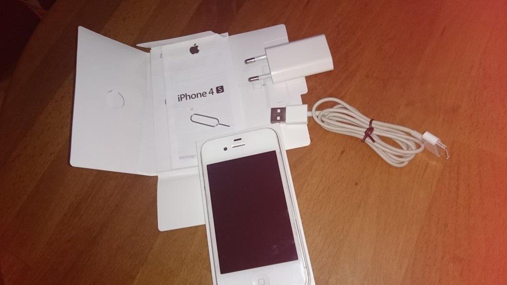 apple iphone 4s 16 gb wei sonstiges bikerforum franken. Black Bedroom Furniture Sets. Home Design Ideas