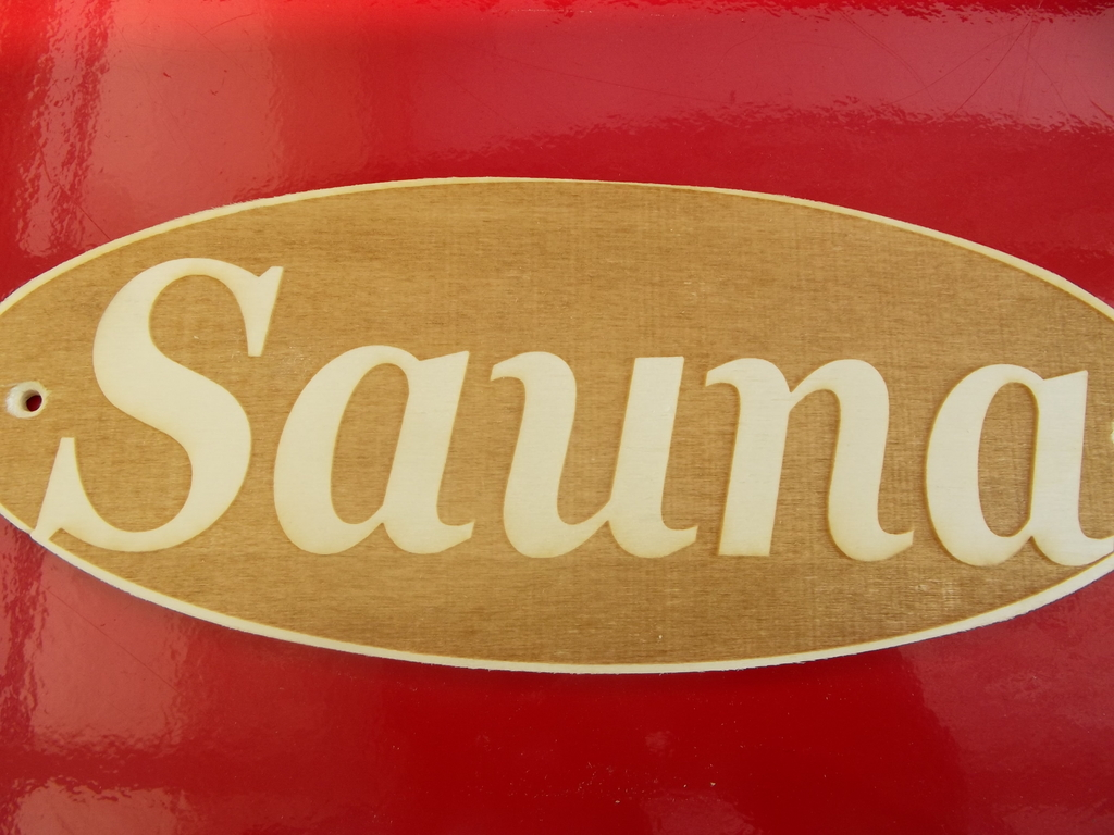 sauna hinweisschild sauna saunaschild lasergravur 2 schilder f r ein preis ebay. Black Bedroom Furniture Sets. Home Design Ideas