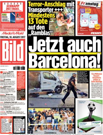 Bild  Zeitung 18 August 2017