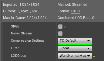 [UE4 Совет] DXT1/DXT5 Normal Maps