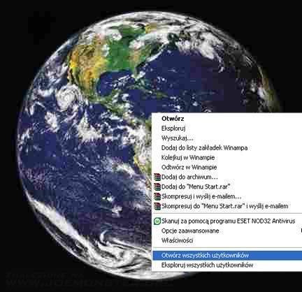 Świat z interfacem okienkowym 8