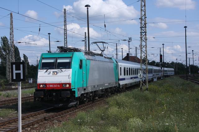 E186 241-6 Einfahrt frankfurt (Oder)