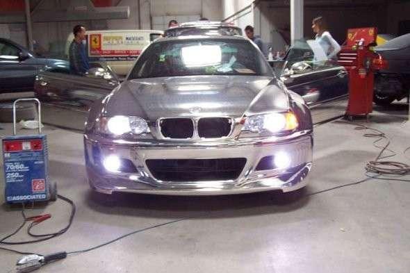 Chromowane BMW M3 13