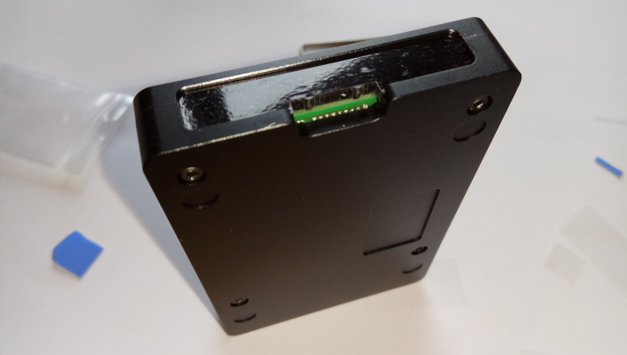 Review Ultra Thin Raspberry Pi Aluminum Case Assembly Mod The Usb Router Repeater Is Made From Durable Cnc It39s Nearly Following Optional Placing A Label Sticker In Recess But I Really Wanted To Have There Thought That Logo Raspi