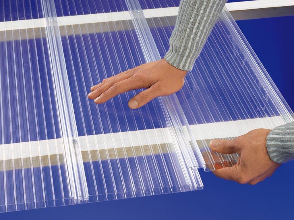 hohlkammerplatten hohlkammerpaneele lichtbahnelemente pc klar easy click ebay. Black Bedroom Furniture Sets. Home Design Ideas